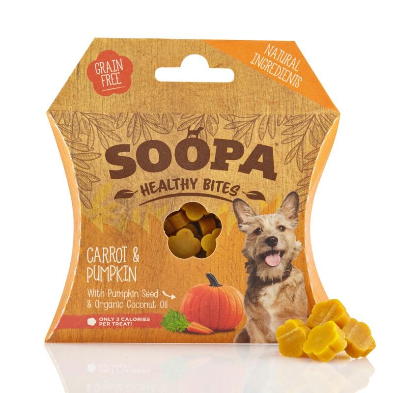 soopa bocconcini zucca carota per cani snack raw cane
