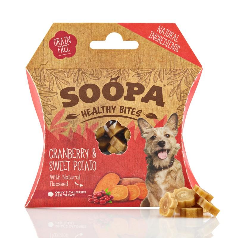 soopa bocconcini mirtillo patate per cani snack raw cane