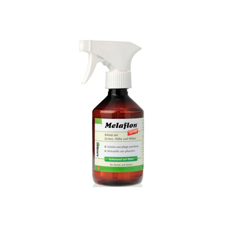 Anibio Melaflon Spray contro pulci zecche acari per cani e gatti 300 ml