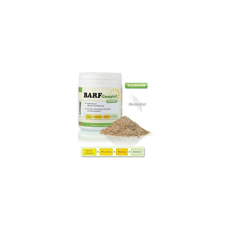 Anibio Barf Complex Minerali Vitamine Calcio Gluten Free per cani e gatti
