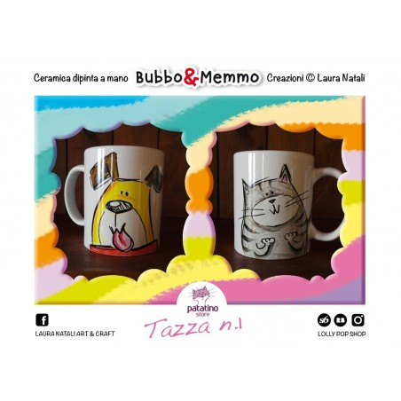 Tazza nr. 1 Bubbo & Memmo dipinta a mano