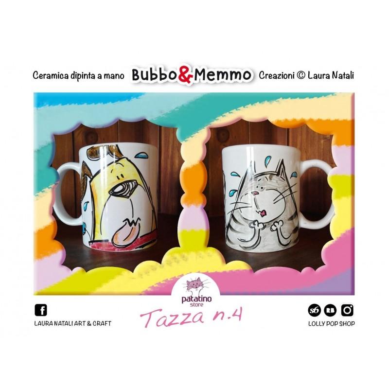 Tazza nr. 4 Bubbo & Memmo dipinta a mano