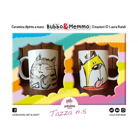 Tazza nr. 5 Bubbo & Memmo dipinta a mano